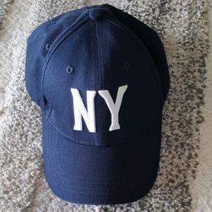 🍎 NY baseball cap hat navy blue unisex